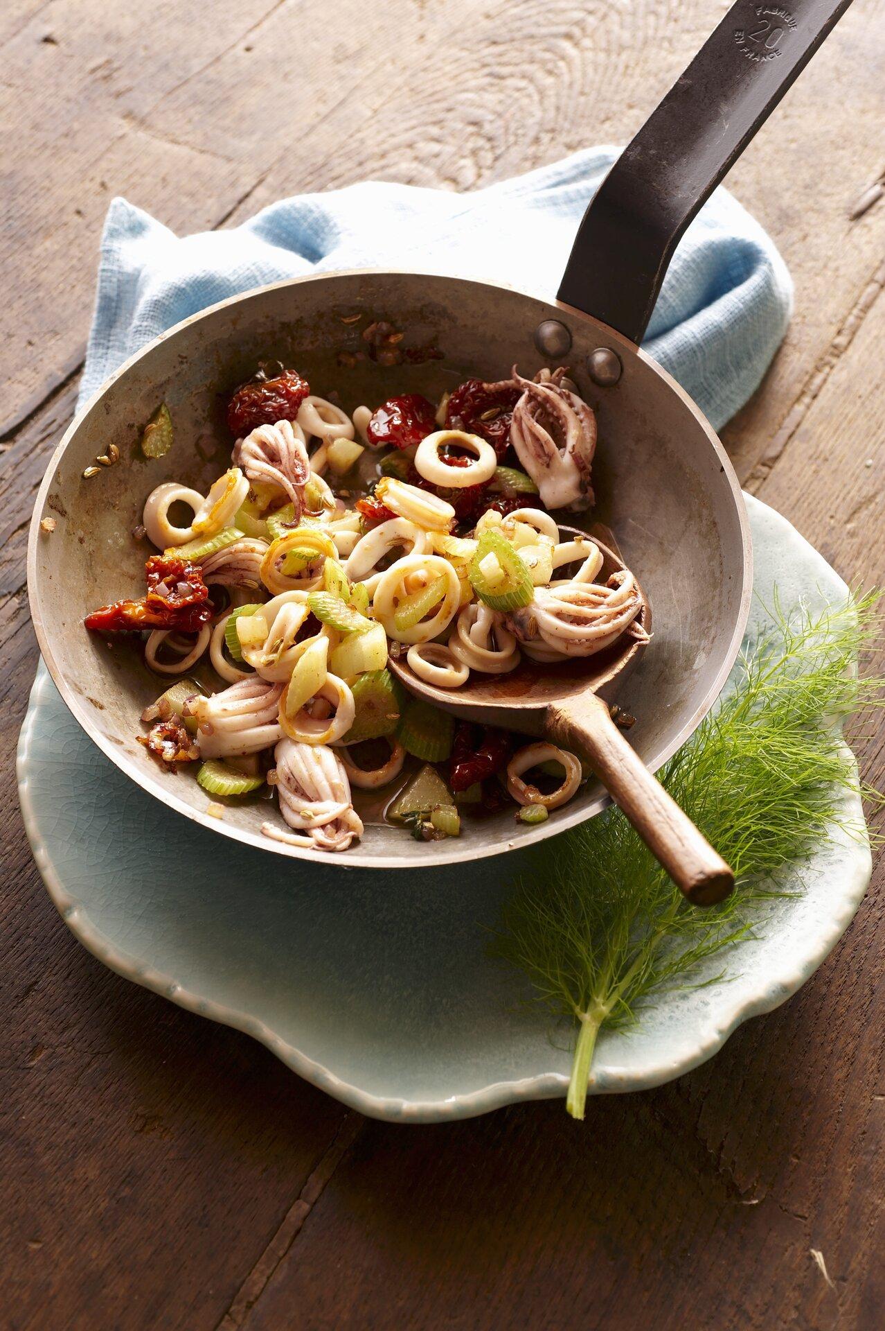 Ricetta Calamari in padella  Agrodolce