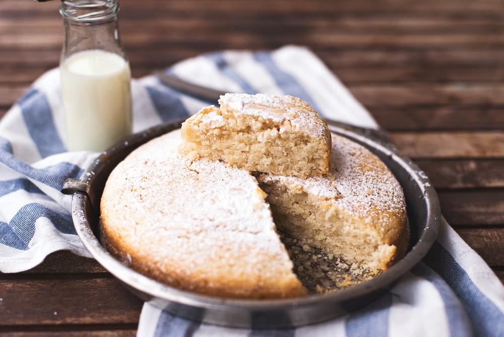 Ricetta Torta senza latte e uova con vaniglia e limone