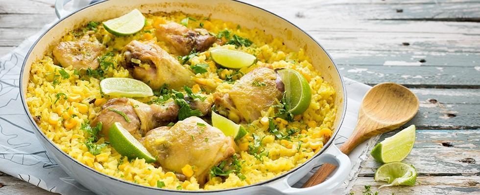 Ricetta Riso con pollo alla brasiliana  Agrodolce