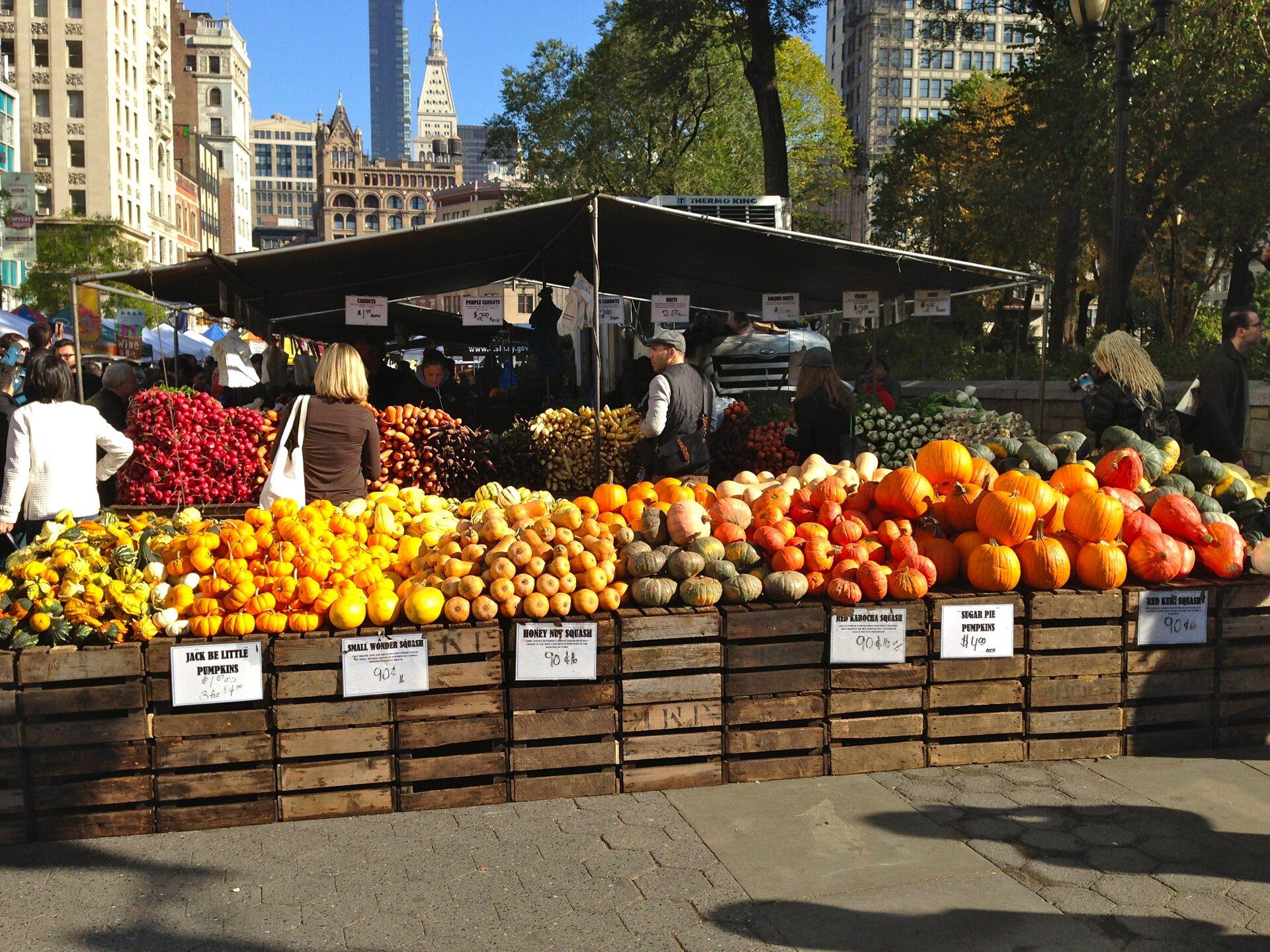 New York un giro al mercato con la chef  Agrodolce