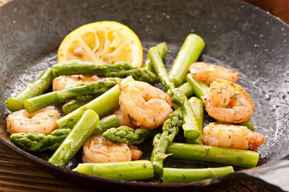 Ricetta Gamberi e asparagi  Agrodolce
