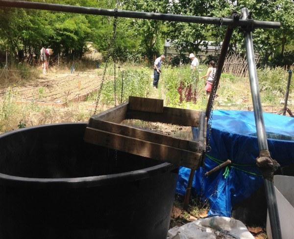 Criba para el compost