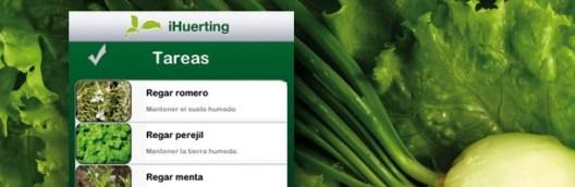 Aplicaciones móviles para el huerto: iHuertingApp