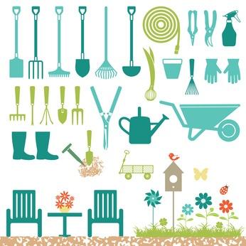 Herramientas que se utilizan para cultivar el huerto y el jardín