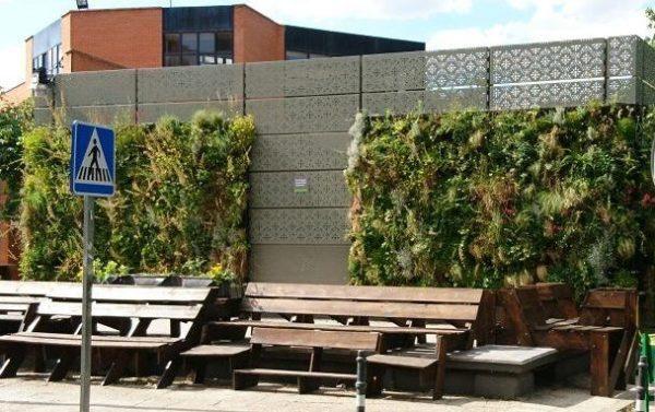 ETSI Agrónomos, cubiertas vegetales. Jardines verticales