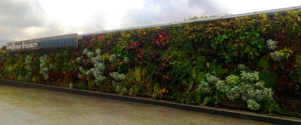 Jardín vertical en la terraza del centro comercial Westfield, Londres