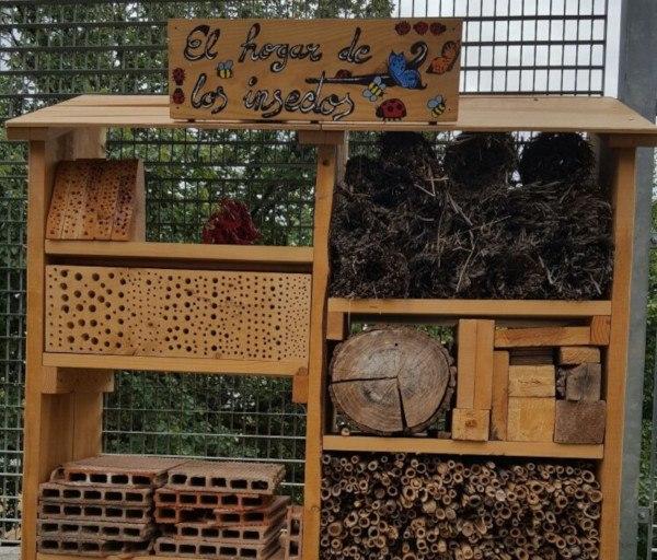 Refugio para insectos polinizadores