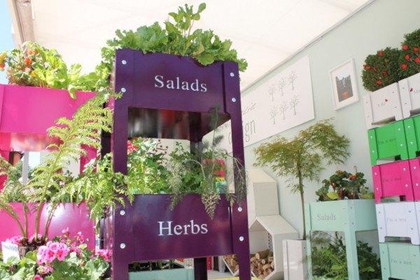 Recipientes de cultivo originales en Chelsea Flower Show