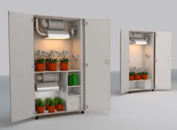 Armario de cultivo para el mini huerto de interior
