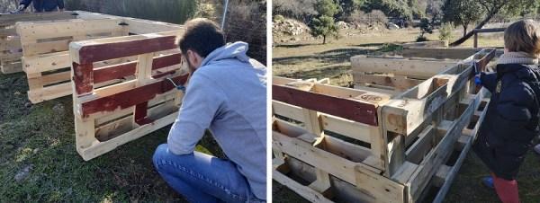pintar el compostador casero