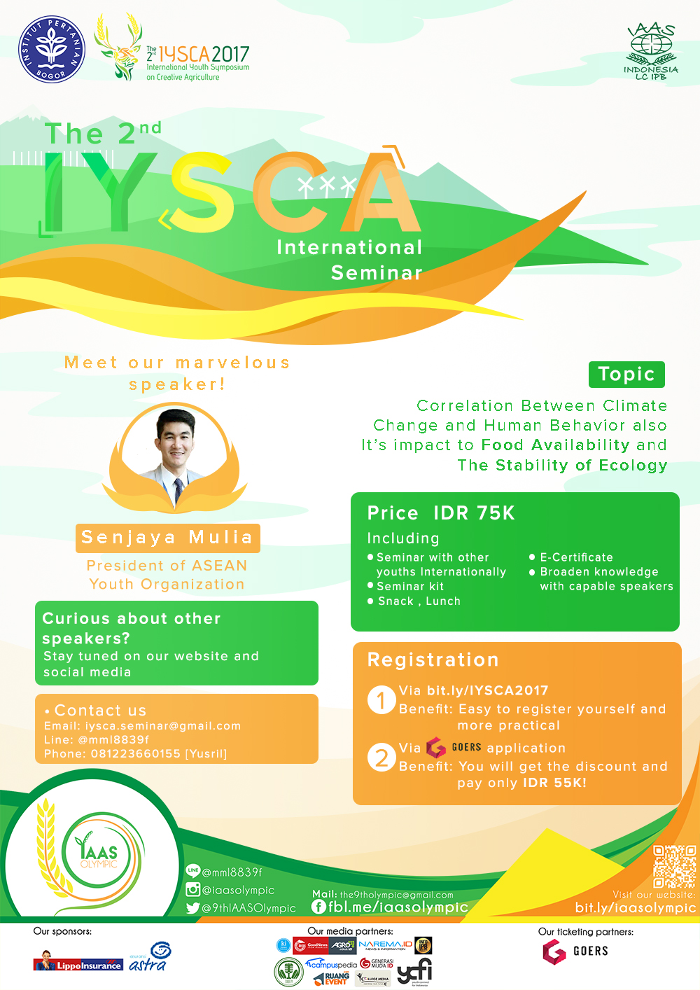International Seminar of IYSCA 2017