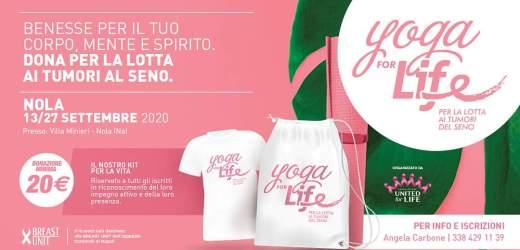 Yoga for life, due giorni per la lotta al tumore al seno