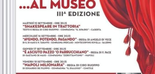 Teatro in mostra al museo: domani la prima