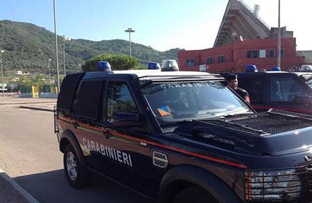 Sicurezza_cellerini_stadio_Arechi_settore_ospiti_Carabinieri