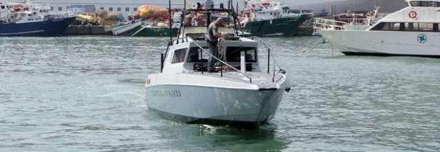 SAL - 13 08 2015 Salerno Incidente tra Barche Marina D'Arechi nella foto la guardia di finanza rientra dopo aver recuperato il corpo  foto Tanopress