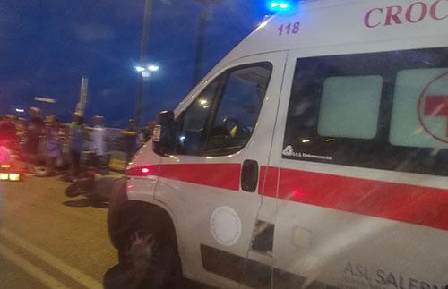 Incidente_Lungomare_auto_scooter_Ambulanza_2
