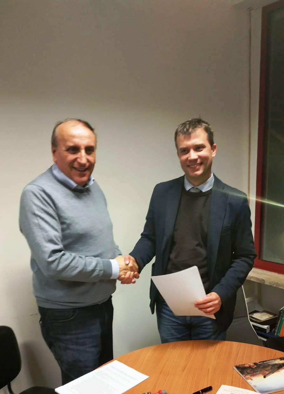 Prof Vincenzo Pepe e direttore Gabriel Zuchtriegel