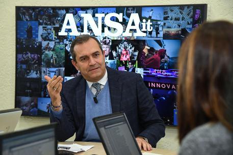 Forum ANSA con il sindaco di Napoli Luigi De Magistris, Roma 22 gennaio 2019.  ANSA/ALESSANDRO DI MEO