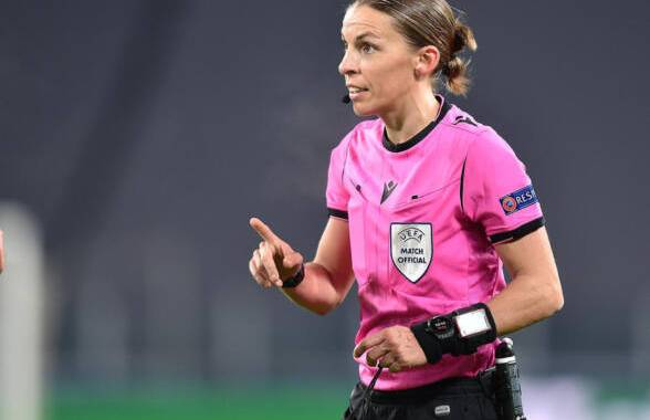 French referee  Stephanie Frappart during the Uefa Champions League soccer match Juventus FC vs FK Dynamo Kyiv at the Allianz Stadium in Turin, Italy, 2 December 2020 ANSA/ALESSANDRO DI MARCO