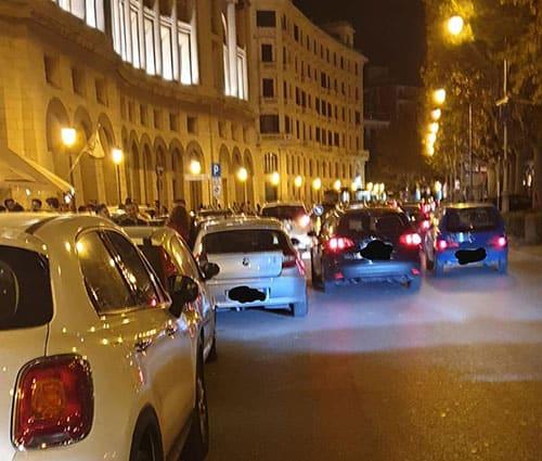 traffico-Via-Roma-notte-movida-salerno