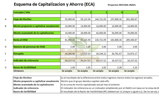 Esquema de capitalizacion de apoyos (ECA)