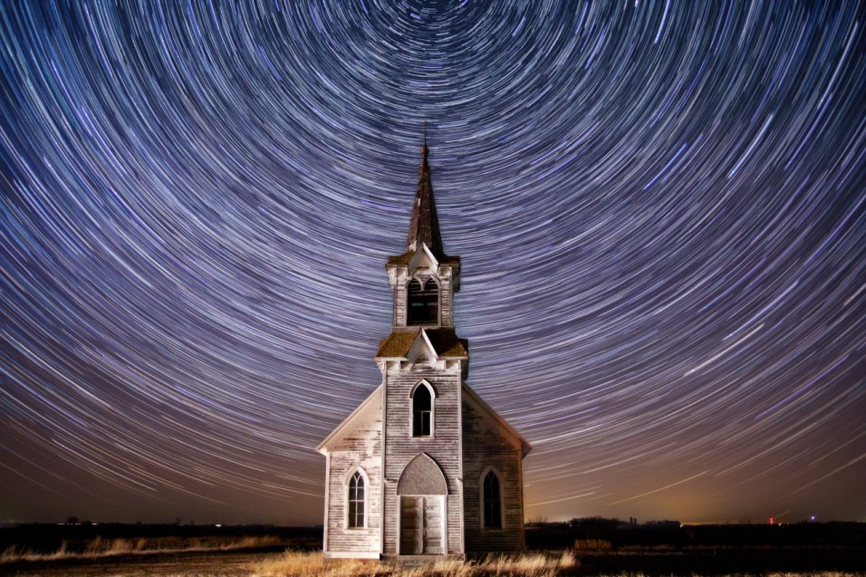 Star Trails and Steeple
