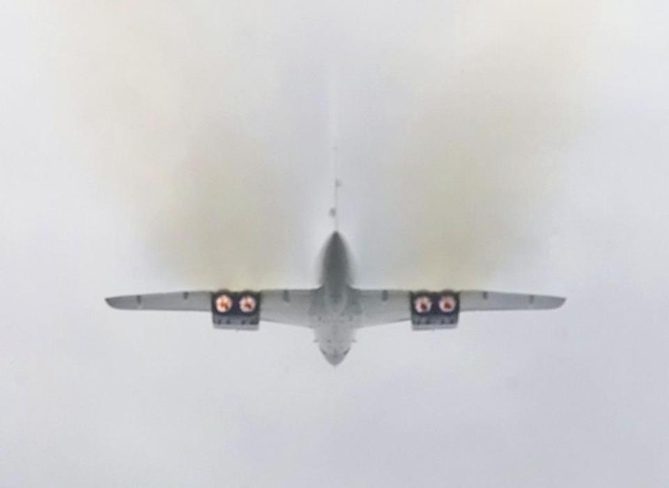 The Olympus engine's afterburners gave the Concorde its signature smoky takeoffs. Each engine produced 38,000 pounds of thrust.