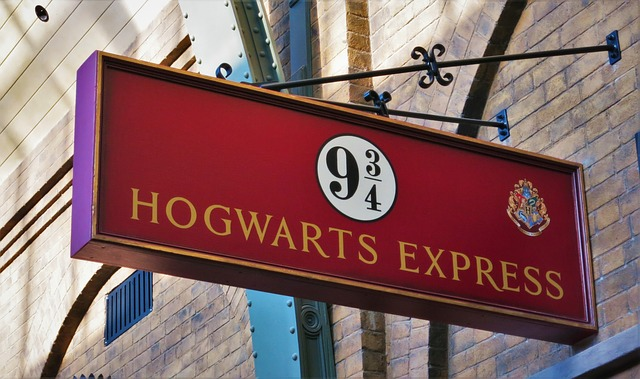 The train platform at Kings Cross that Hogwarts students board.
