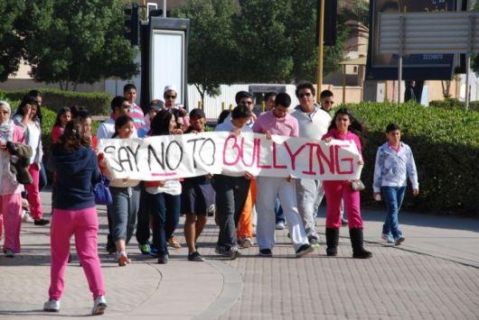 Equait's anti-bullying walkathon. Photo courtesy of Faisal al-Fuhaid and Leanah al-Awadhi.