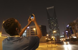 Mideast Saudi Earth Hour
