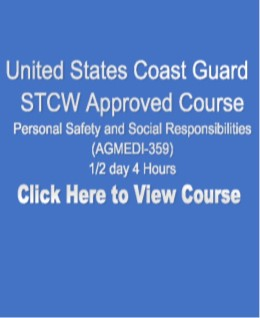 USCG NMC STCW Approved Personal Safety and Social Responsibilities 1/2 day 4 Hours Click on Picture to View Description of Course and Pay