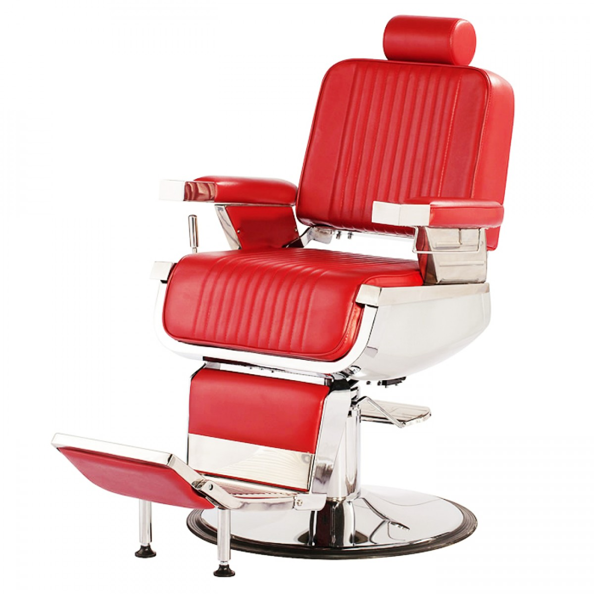 CONSTANTINE Barber Chair In Red  Red Barber Chairs