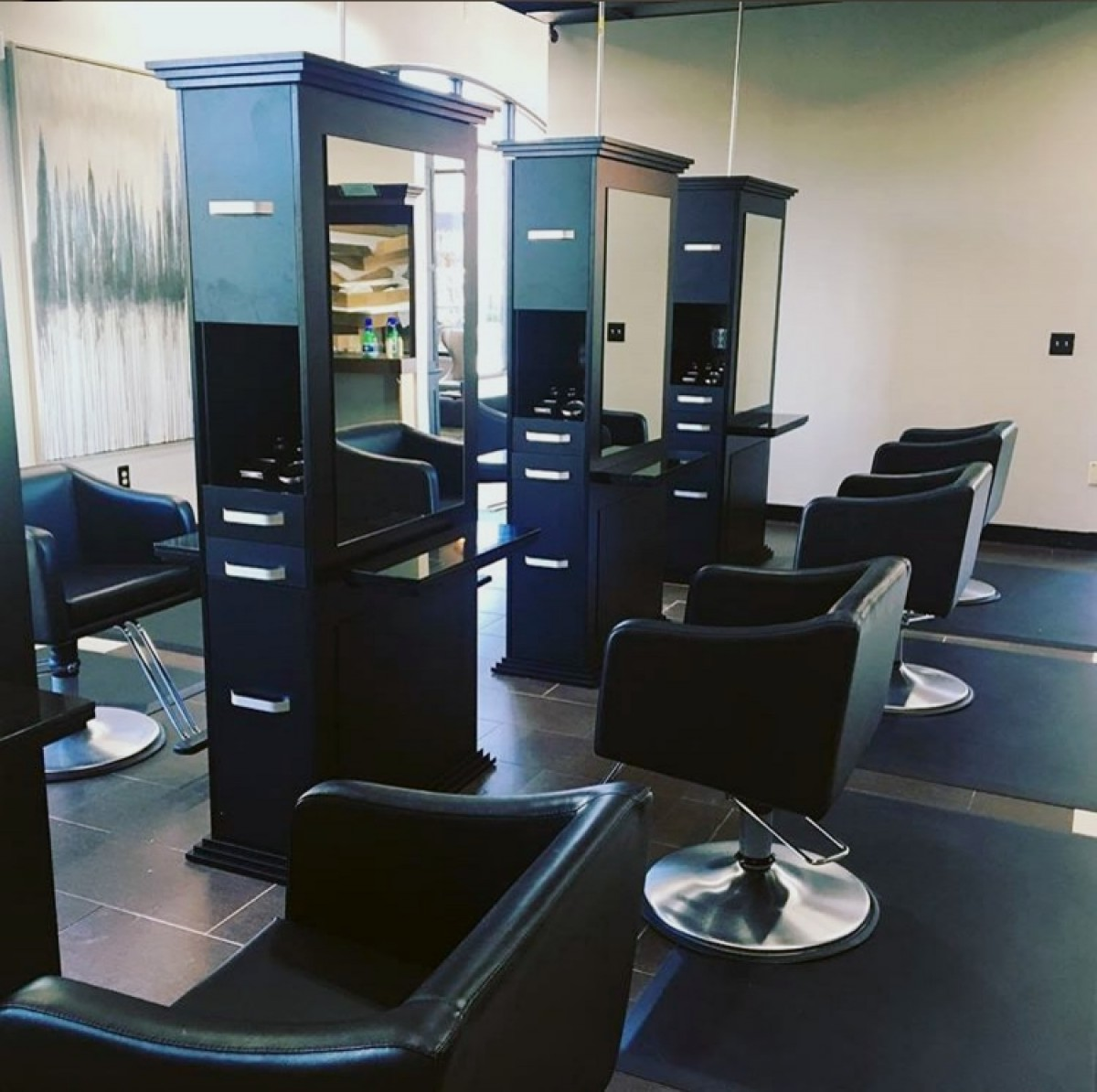 SIENA Double Sided Salon Station in Matte Black