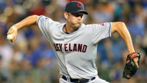 KANSAS CITY, MO - SEPTEMBER 03:  Pitcher Josh Judy #45 of the Cleveland Indians pitches against the Kansas City Royals at Kauffman Stadium on September 3, 2011 in Kansas City, Missouri. The Kansas City Royals defeated the Cleveland Indians 5-1.  (Photo by Tim Umphrey/Getty Images)
