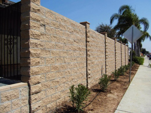 Stamped concrete Retaining Walls in San Diego | Agundez Concrete