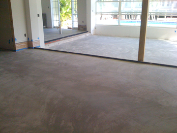 new concrete floor