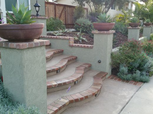 Colored Concrete Retaining Walls in San Diego | Agundez Concrete