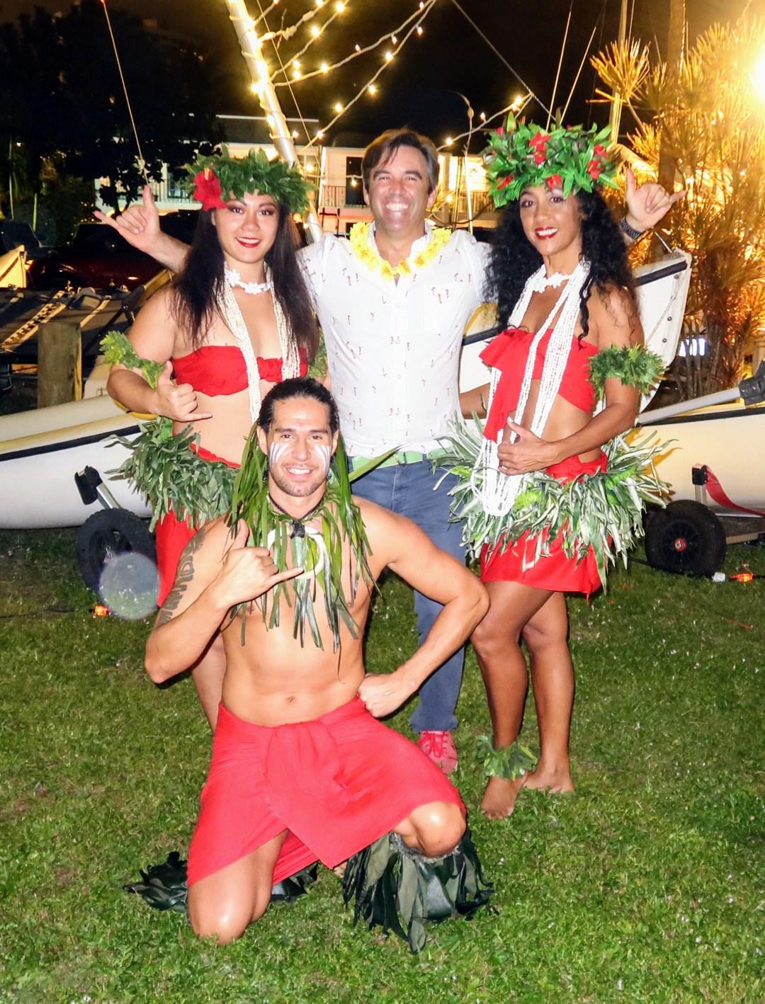 Chris Callahan with the Island Dancers - Photo by Aaron Wormus