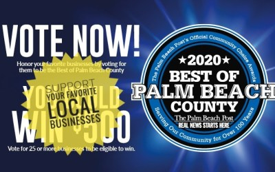 Vote in Palm Beach Post 2020 Contest & Support Local Businesses