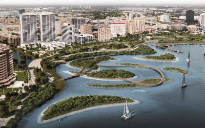 A future view of a thriving West Palm Beach waterfront