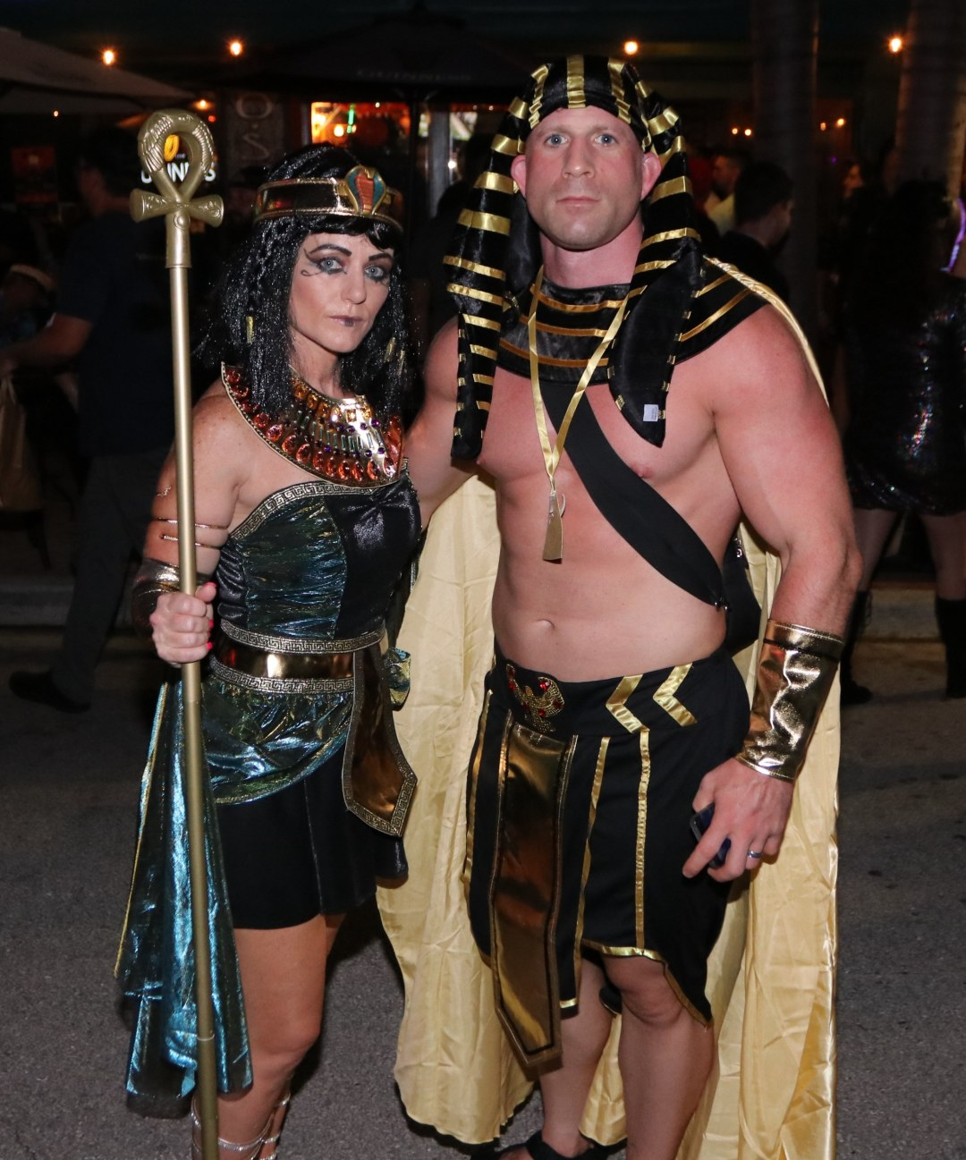 Cleopatra and Pharaoh at Moonfest 2019 (photo by: Mike Jalches)