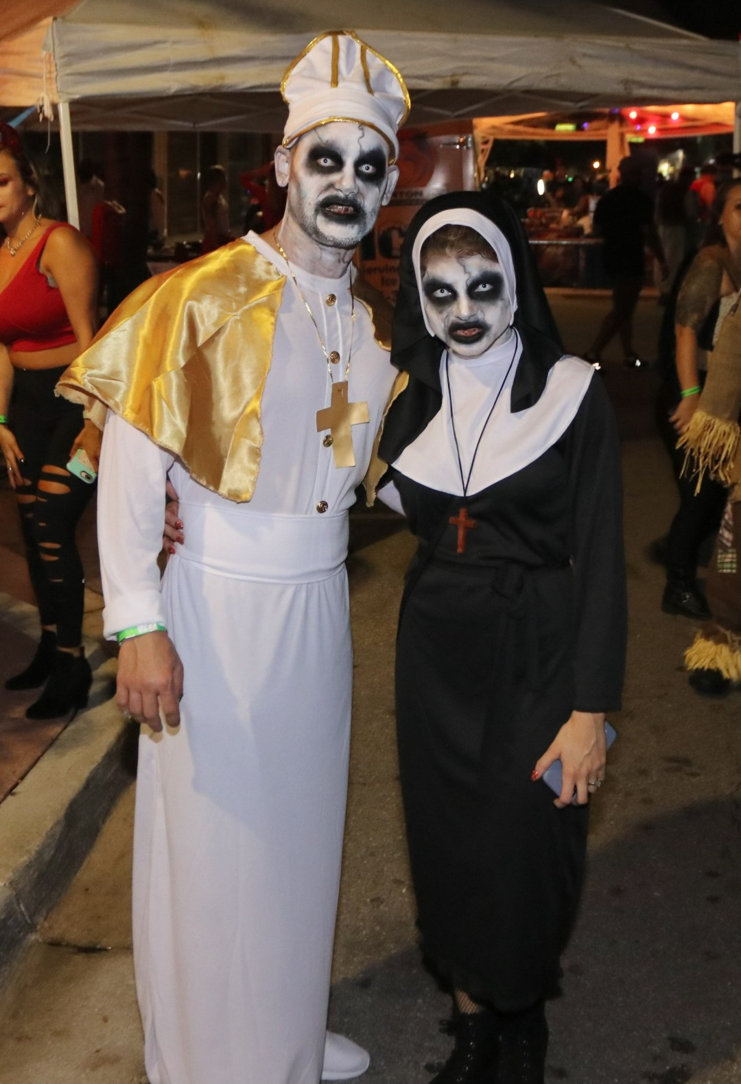 Zombie Priest and Nun at Moonfest 2019 (photo by: Mike Jalches)