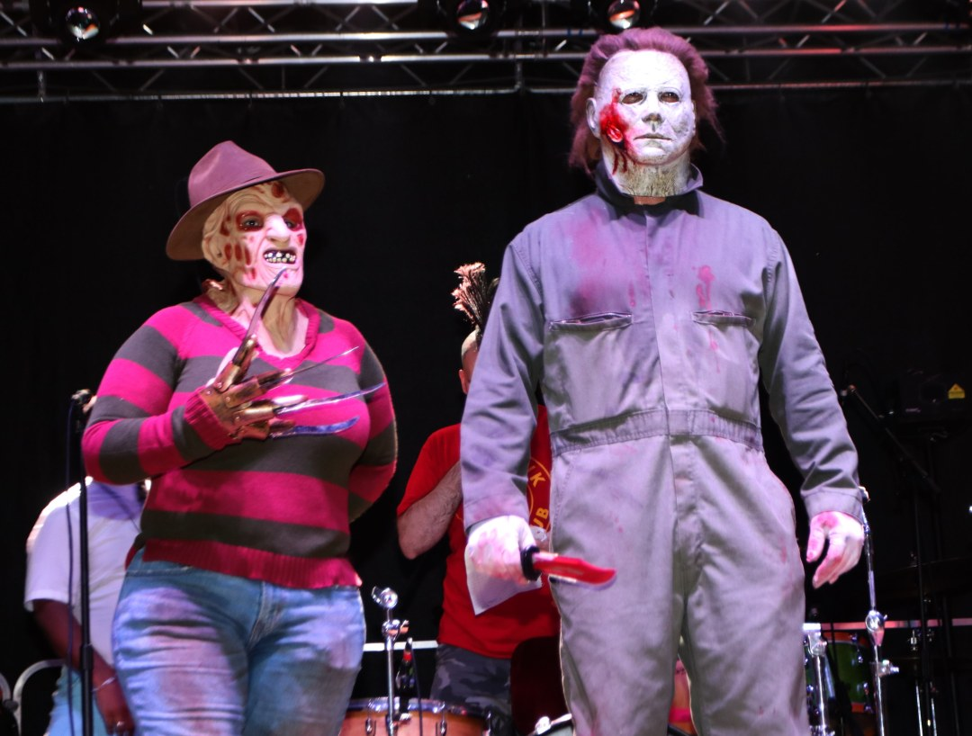 Freddy and Michael Myers at Moonfest 2019 Costume Contest (photo by: Mike Jalches)