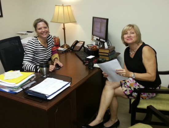 Amy Dean VP of Grants & Community Investments an Marge Sullivan, VP of Communications