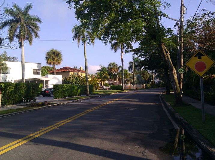 Very calm section of Flagler, old trees make lighting an issue in the evening