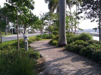 If you prefer the trail that's available as well on the waterfront