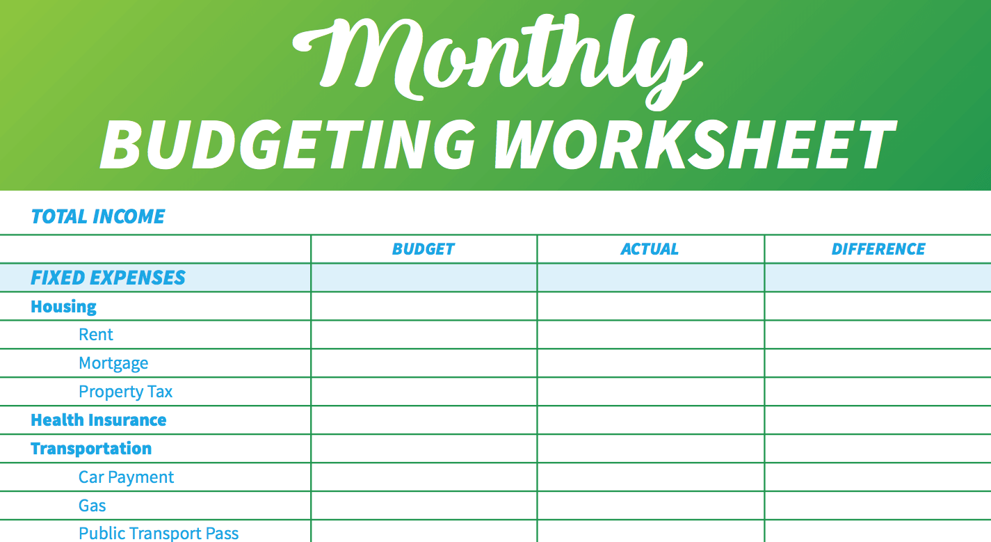 Simple Monthly Budget Template Things That Make You Love