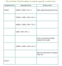 Expanded Form Worksheets Grade 2 To 701   Printable Worksheets and  Activities for Teachers [ 1584 x 1224 Pixel ]