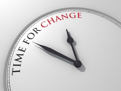 A clock signifying that there's a time for change in our life