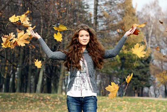 Woman living life to the fullest in nature